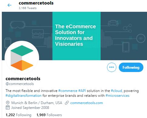 Commercetools via Twitter