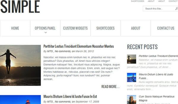 Minimilist Website Template