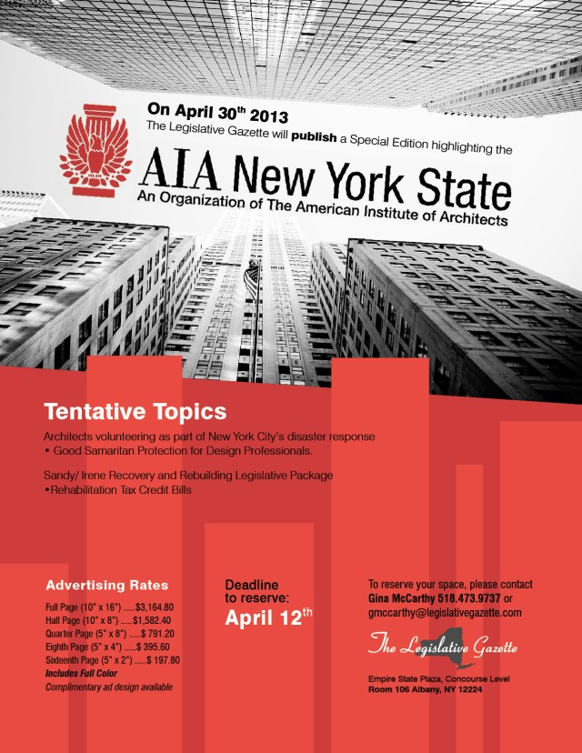 AIA New York State flyer