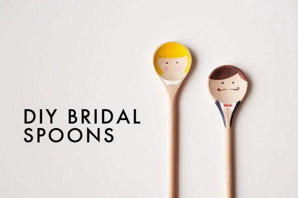 DIY para bodas: Cucharas de Madera