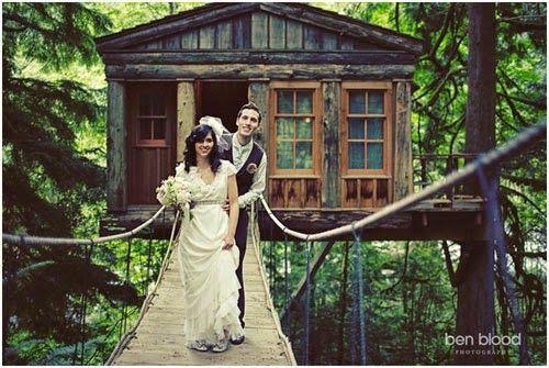 boda en casa árbol