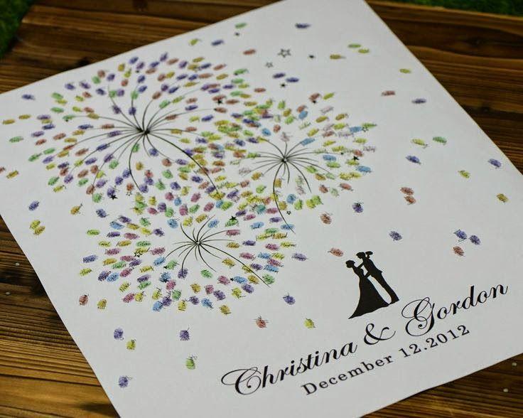 imprimibles árbol de huellas boda