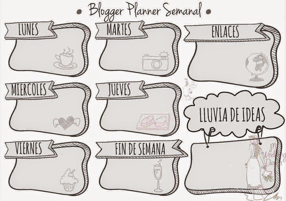Imprimible Blogger Planner