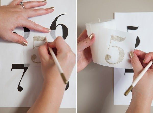 tutorial numeros mesa boda