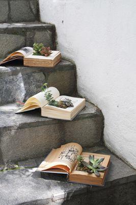 decorar boda con libros