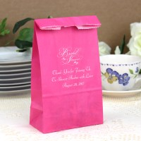 4 x 2 x 8 Personalized Paper Bridal Shower Party and Gift Bags