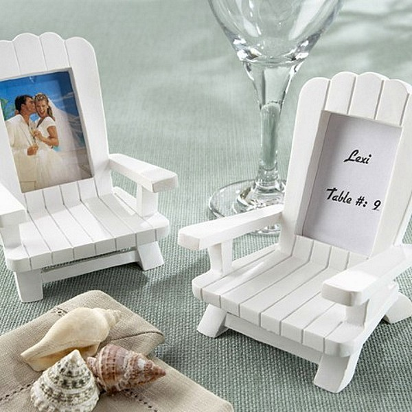 adirondack chair photo frame favors bar covers 4 pc. place card set