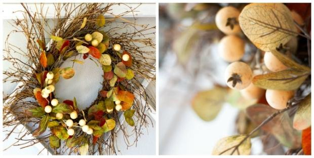 tuesday turn about 18 pumpkin fun fall wreath with leaves and berries