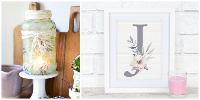 tuesday turn about home diys spring vignette and framed monogram