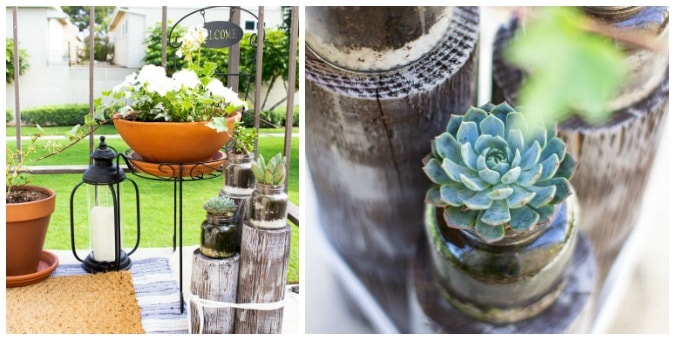 tuesday turn about summer coastal patio with terra cotta planters and succulents
