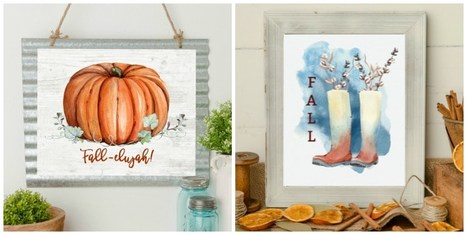 tuesday turn about 69 autumn diys collage of two fall printables