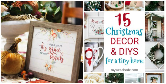 tuesday turn about collage of christmas decor and printable