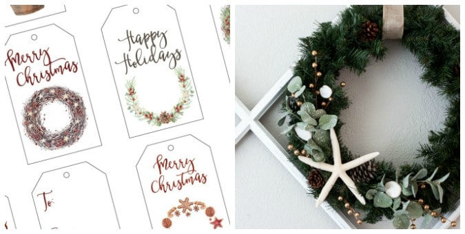 tuesday turn about christmas tablescapes gift tags and winter wreath