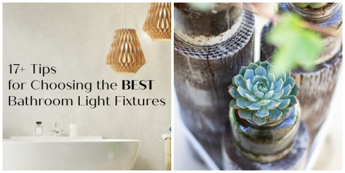 tuesday turn about 100 celebrate collage of bathroom with succulents on pilings