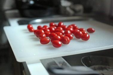 zucchini tomato salad - tomatoes