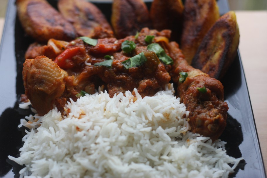 Evoking memories of Ghana Chicken Stew with Rice  MyWeku