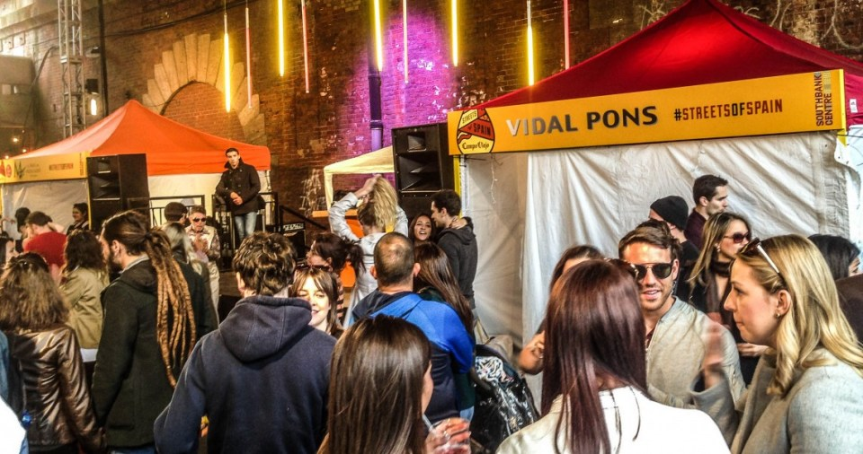 Street Food at the Streets of Spain festival in London