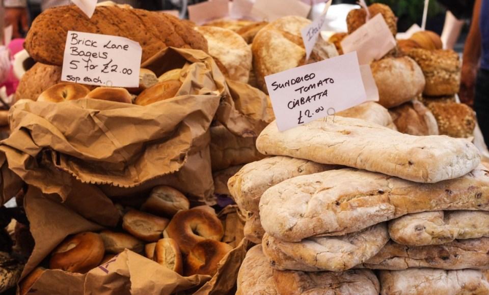 Food at the Portobello Road Market