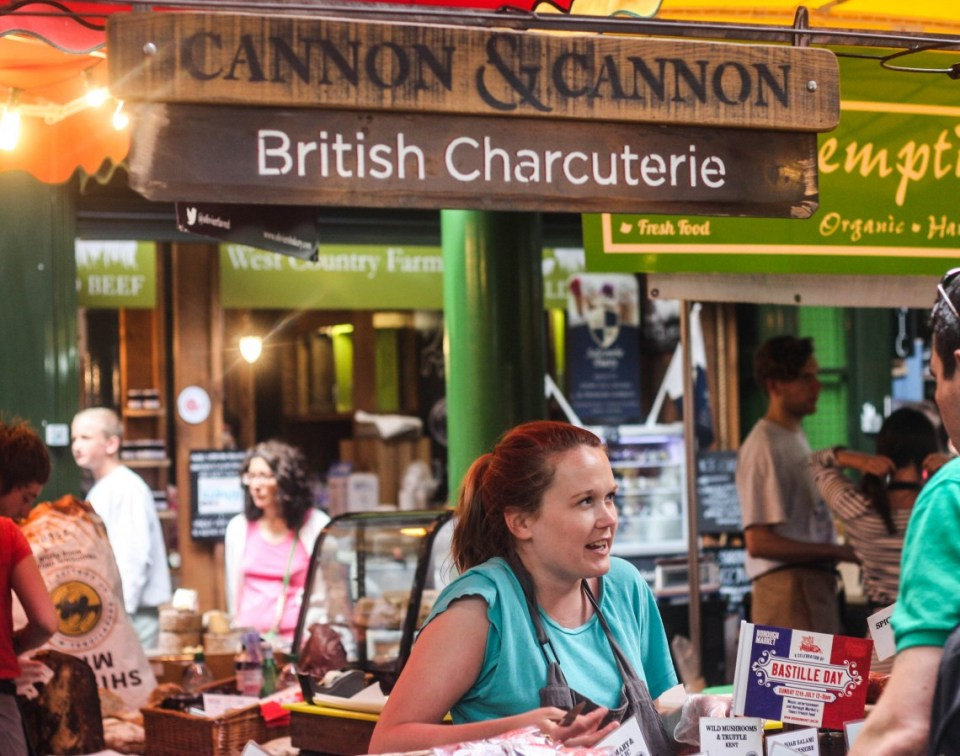 Saturday at the Borough Market, London
