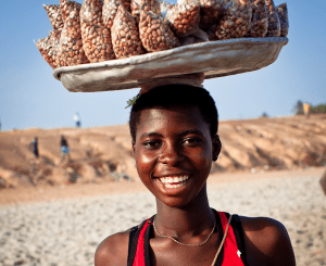 roasted peanut seller ghana
