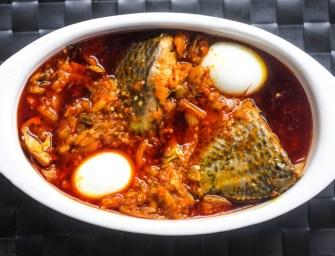 Making Ghana's garden egg stew