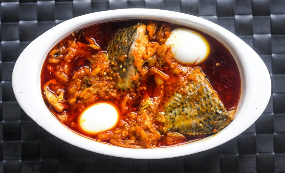 Making Ghana's garden egg stew