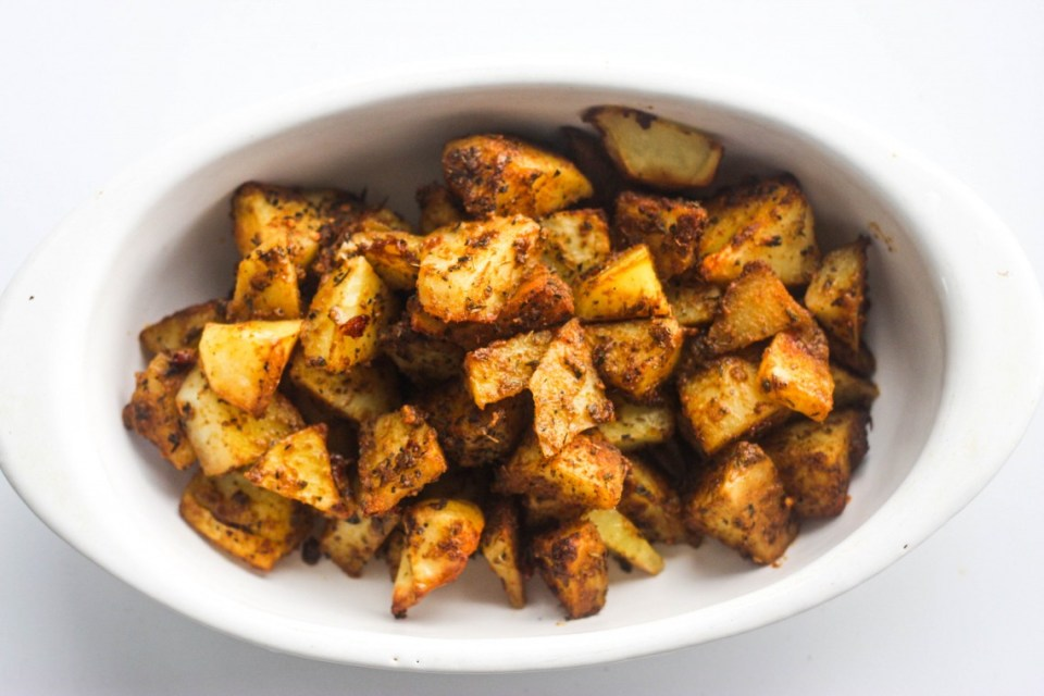 Suya spiced roast potatoes