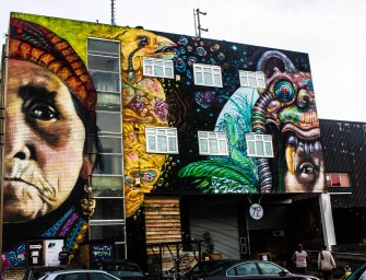 In Hackney Wick, London, street art covers up decay