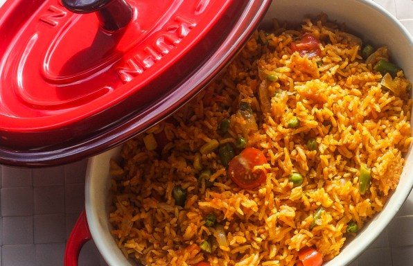 Oven-baked Jollof rice beats jollof rice in a pot!
