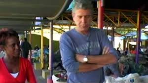 Watch Anthony Bourdain struggle with the food of the Bushmen in Namibia