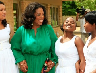 Deep in thought over Oprah Winfrey's happiest moment