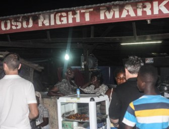 Kelewele at the Osu night market
