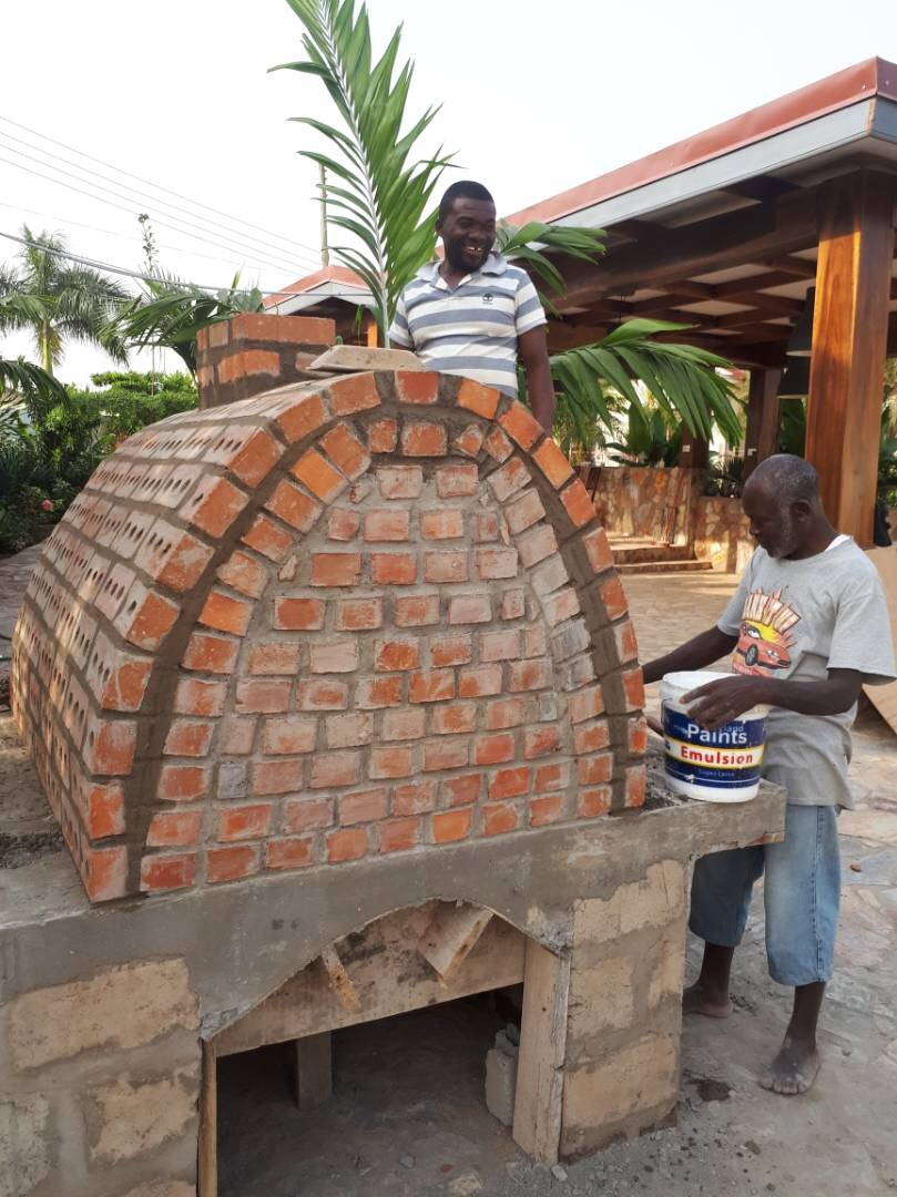 Building the Myweku wood fired brick oven