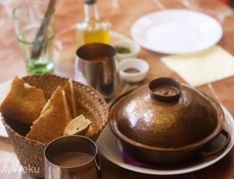 Culinary exploration at the Ruined Gardens in Fez, Morocco