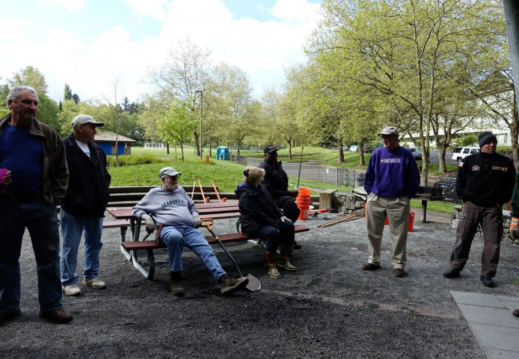 WHAM Spring Cleanup 2015 - Group at Picnic Shelter