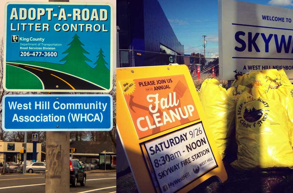 WHCA Adopt-A-Road WHAM Fall Cleanup