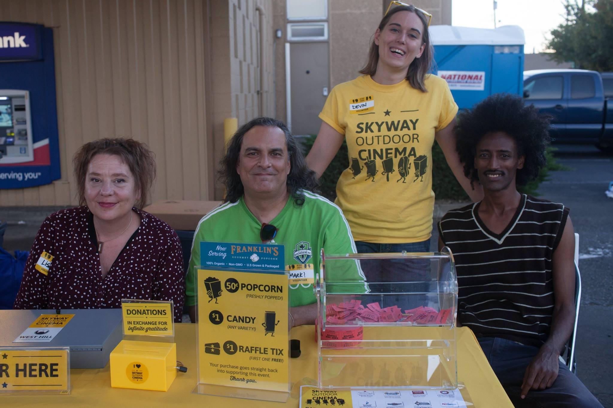 WHCA Board Members at Skyway Outdoor Cinema 2017