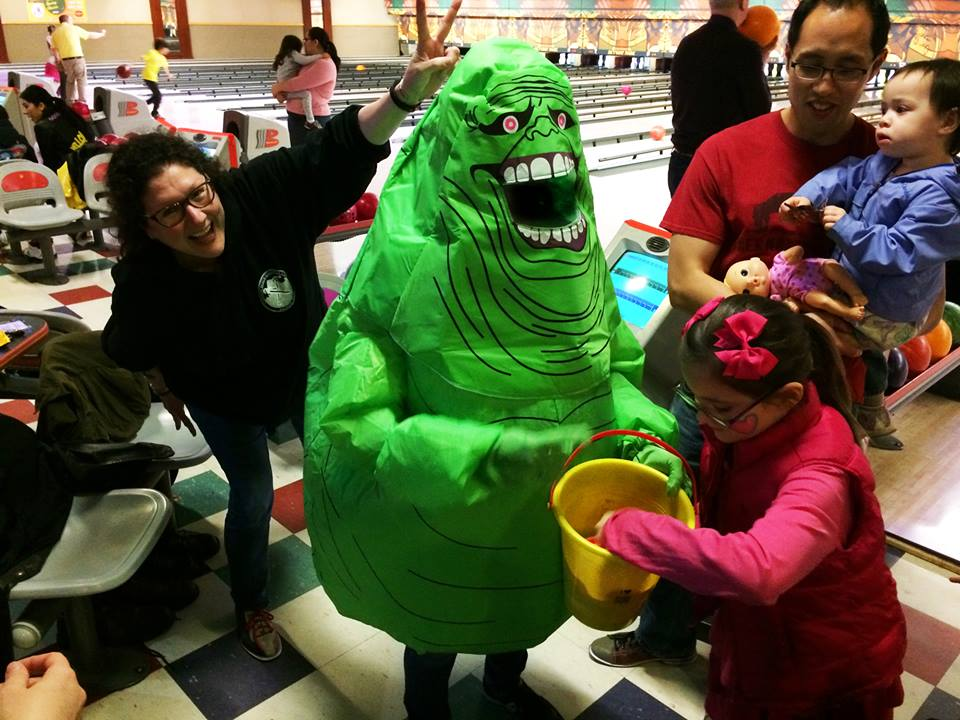 Slimer at WHCA Bowling Alley Takeover in March 2017