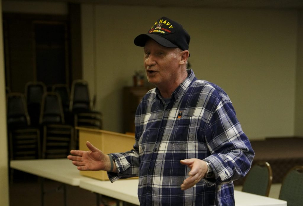 Chuck Vitiritti of Skyway VFW Post #9430 gives a report at the Post on January 15th, 2019 for WHCA's Winter Quarterly Community Meeting.
