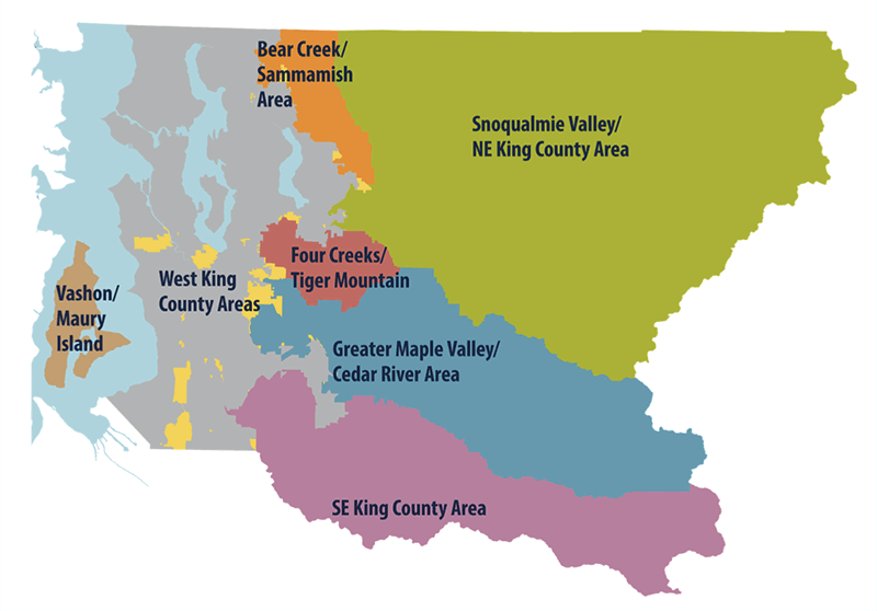 Map of King County Unincorporated Areas