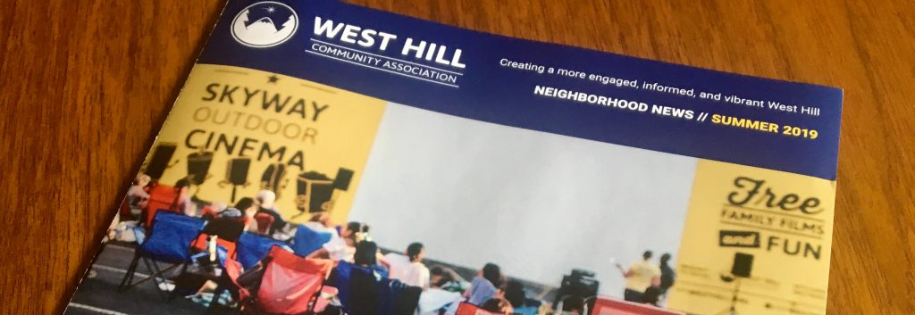 WHCA Summer 2019 West Hill Neighborhood News Mailer