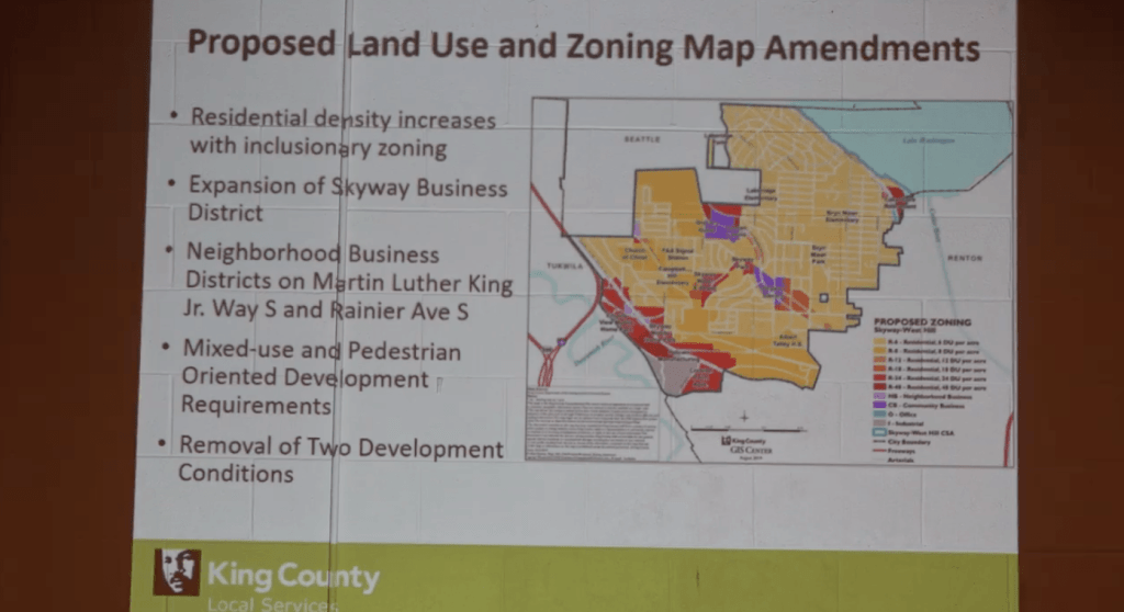 King County West Hill Subarea Plan Proposed Land Use and Zoning Map Amendments slide