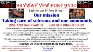 Dine and Dash: Part 3 _ Car Hop Dinner To-Go @ Skyway VFW Post 9430 | Seattle | Washington | United States