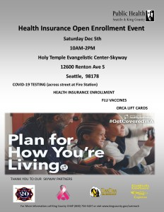 Free COVID-19 Testing, Flu Shots, and Catfish Corner Lunch @ Holy Temple Evangelistic Center | Seattle | Washington | United States