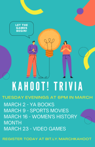 Online Free Kahoot! Trivia @ King County Library System | Charlotte | North Carolina | United States