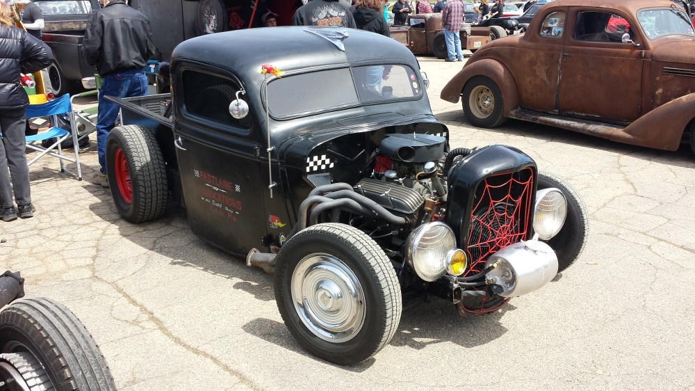 medium resolution of a rat rod with long tube headers