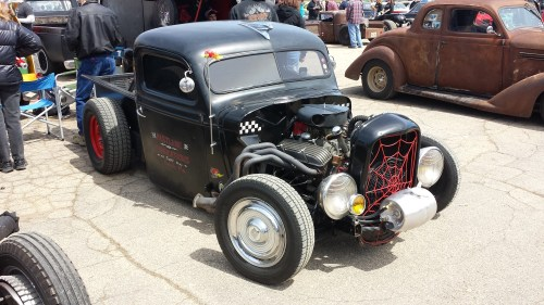 small resolution of a rat rod with long tube headers