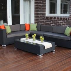 Outdoor Sofa Covers Australia Milan Rounded Set L Shape Modular Wicker Furniture Setting