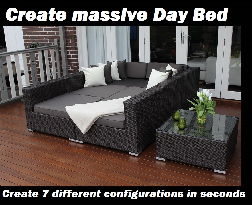 modular lounge with sofa bed adelaide flexsteel power reclining sofas seven ways outdoor wicker furniture setting in ...