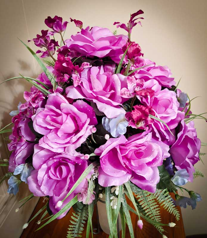 How To Floral Arrangement For Cemetery Vase My Widowed Heart